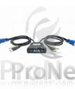 KVM de 2 puertos USB con soporte de audio