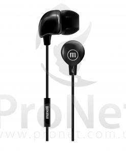 Audífonos Maxell In-Bax con Micrófono Negro