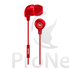 Audífonos Maxell In-Bax con Micrófono Rojo