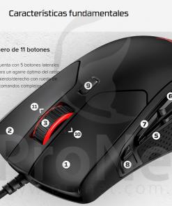 Mouse Gamer Hyperx Pulsefire 11 botones