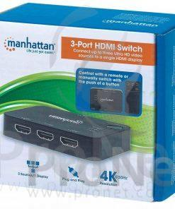 Swtich HDMI De 3 Puertos 4K