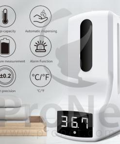 Termómetro y dispensador de alcohol en gel PL-K9